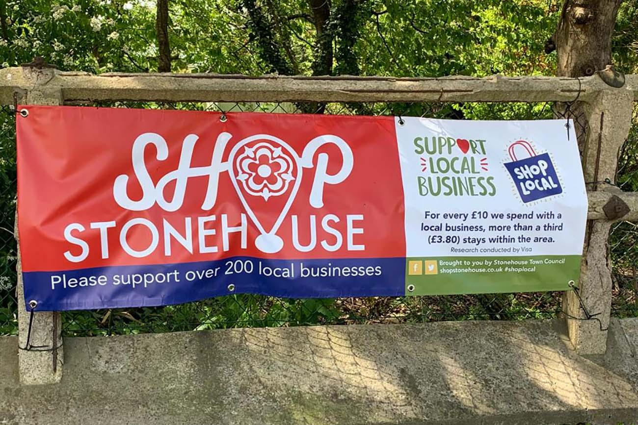PF Shop Stonehouse Banner