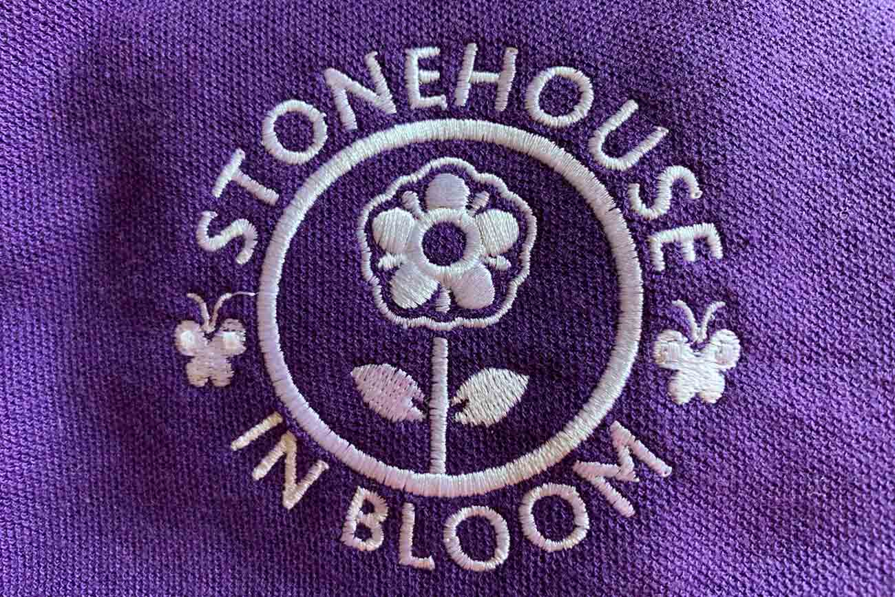 PF Stonehouse in Bloom Logo Purple