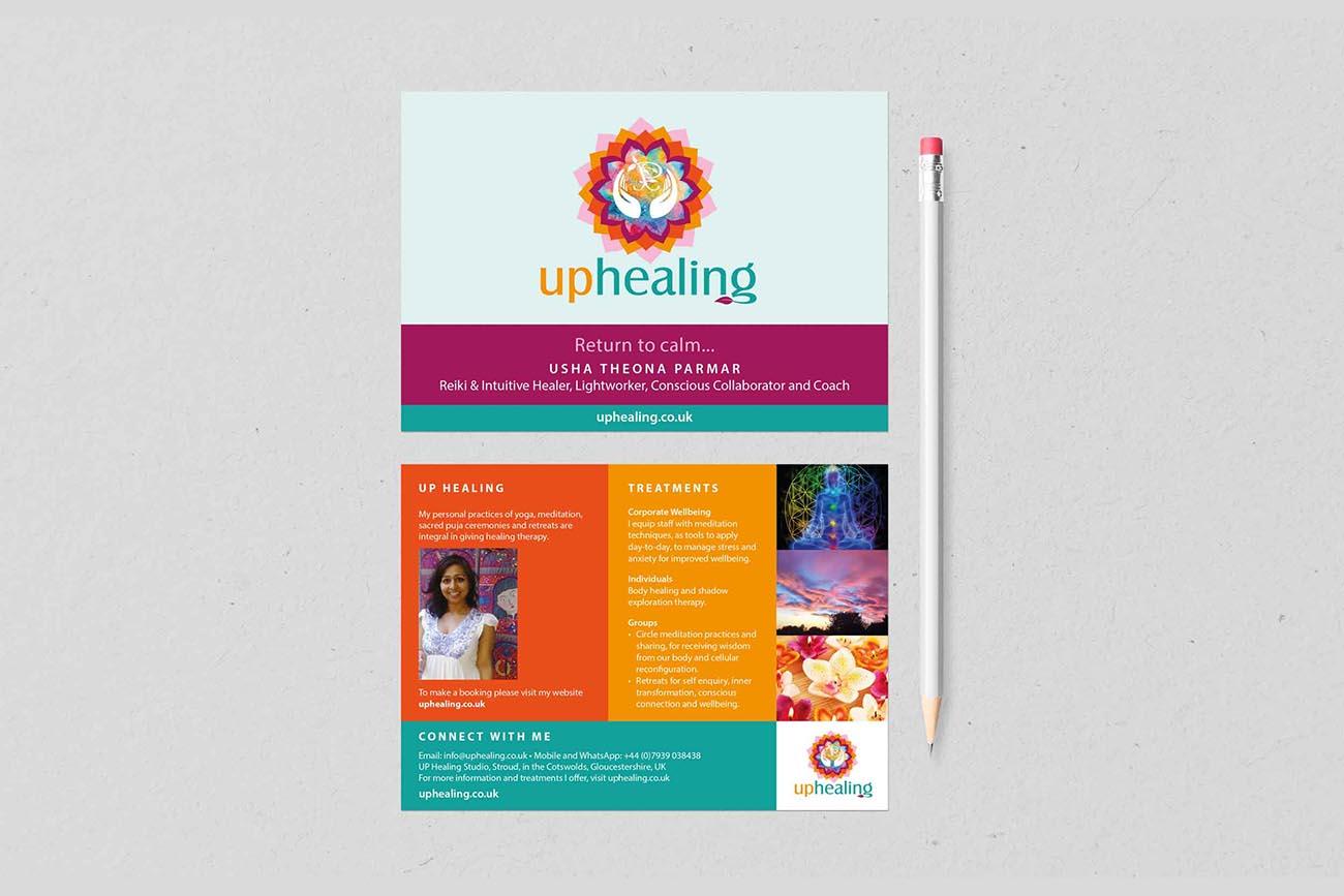 Jo Mew Creative Usha Parmar UP Healing postcard